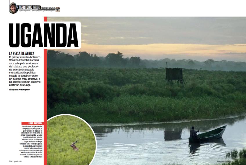 Bowhunting caza con arco Uganda Jara y sedal