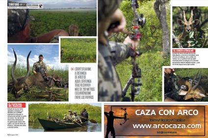 Bowhunting caza con arco Uganda Jara y sedal 2