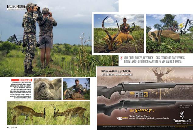 Bowhunting caza con arco Uganda Jara y sedal 3