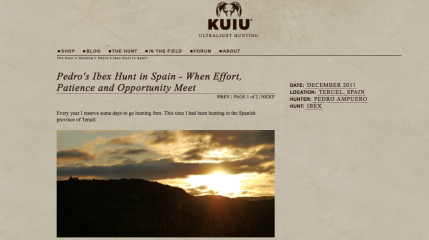 Kuiu - The Hunt: Ibex hunt in Spain