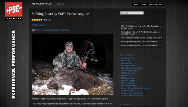PSE Archery Blog - Pedro Ampuero