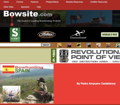 Bowsite bowhunting spain pedro ampuero