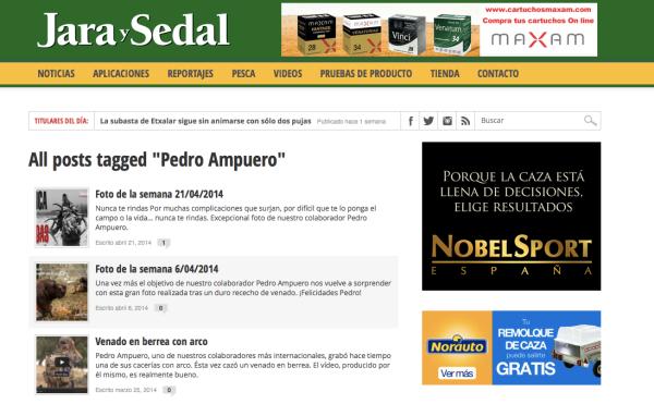 Jara y Sedal online Pedro Ampuero
