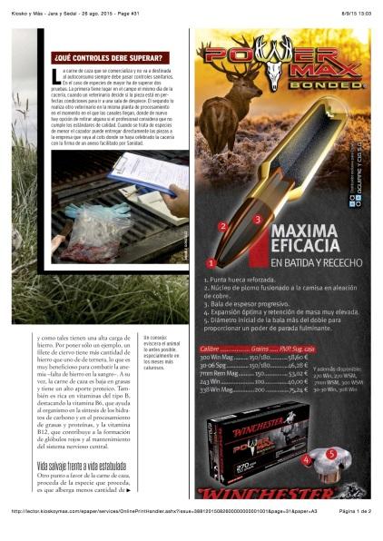 Kiosko y Más - Jara y Sedal - 26 ago. 2015 - Page #31